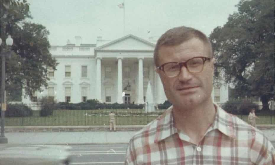 Koecher in front of the White House in 1966