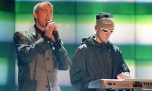 Performing at the Brits , 1996.