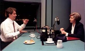 Tony Blair joins presenter Sue Lawley on Desert Island Discs.