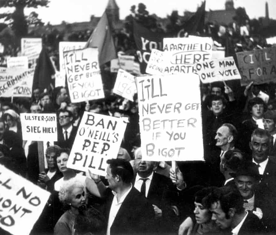 The first civil rights march, on 24 August 1968 in Dungannon