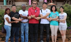 Relatives of some of the passengers on MH370 who are searching for debris from the plane in Madagascar.