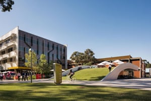 Curtin Bike Hub by Coniglio Ainsworth Architects at Curtin University in Perth, Australia