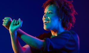 Extended vocal technique … Elaine Mitchener.