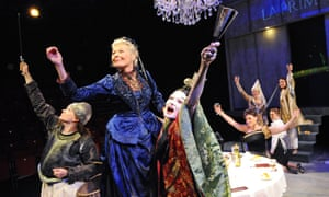 Olivia Poulet, Stella Gonet and Catherine McCormack in Top Girls at the Minerva, Chichester, in 2011.