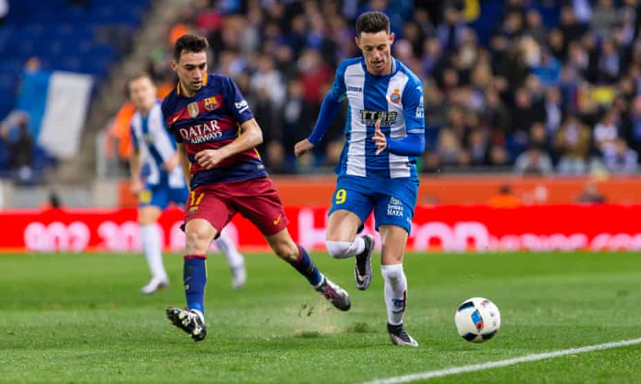 A match between RCD Espanyol vs FC Barcelona, one of the great sporting teams to watch in action.