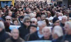 Greek pensioners rally in Athens