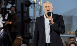 Jeremy Corbyn gives a speech at a Momentum rally at the start of the Labour party conference in Brighton.
