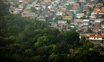 The expanding city of Manaus encroaches on the surrounding jungle.