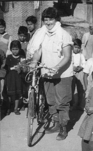 Dervla Murphy in India in around 1965.