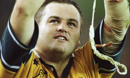 Nick Stiles playing for the Wallabies
