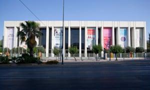澳门美高梅国际音乐厅(Megaron Mousikis)的外观。