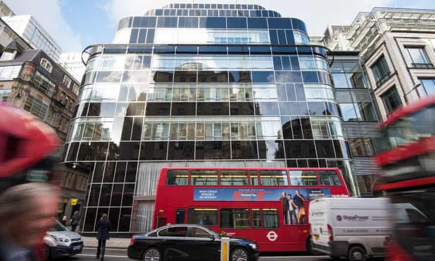 Goldman Sachs head office in Fleet Street, London.