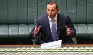 Tony Abbott at question time on Thursday.