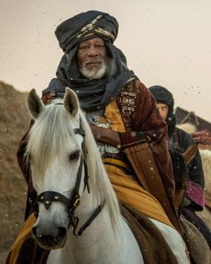 Riding for a fall … Morgan Freeman as Ilderim, a chariot trainer.