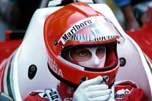 Niki Lauda returned from a serious crash at the Nurburgring to race at the Italian Grand Prix in 1976.