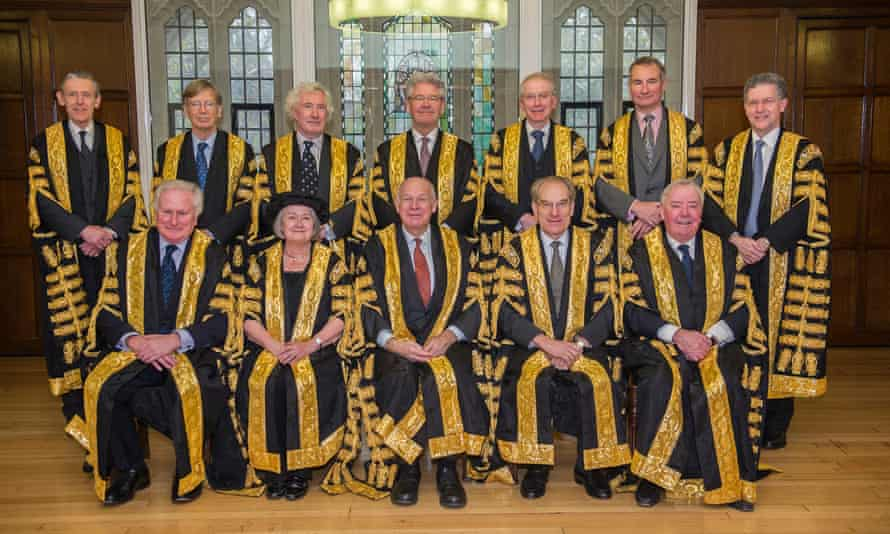 Supreme court judges pictured in 2016