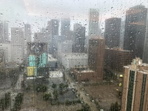 John Crosby's view from the Hilton Americas hotel, Houston.