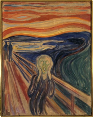 The Scream, 1893, by Munch