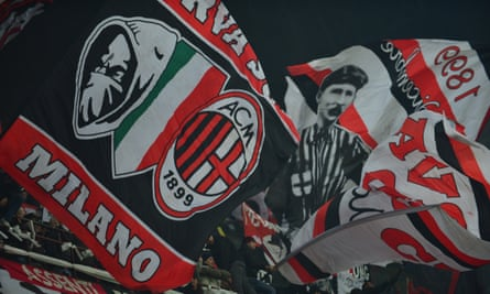 Milan fans pay tribute to the man who founded their club.