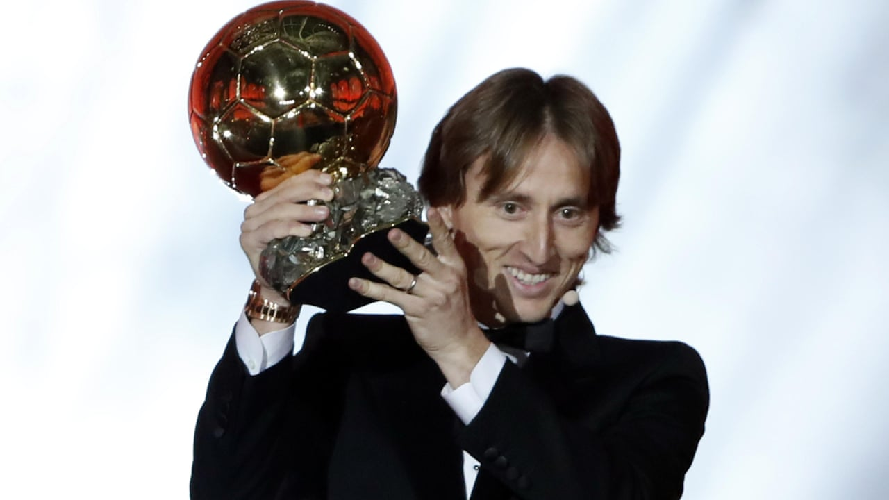 776f212dc50 Luka Modric  honoured  after winning men s 2018 Ballon d Or – video ...