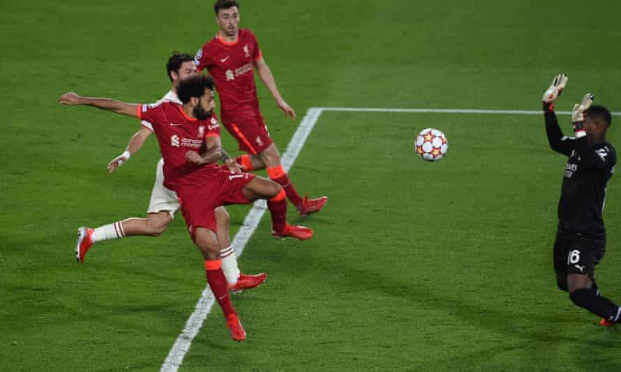 Mohamed Salah scores Liverpool's second-half equaliser