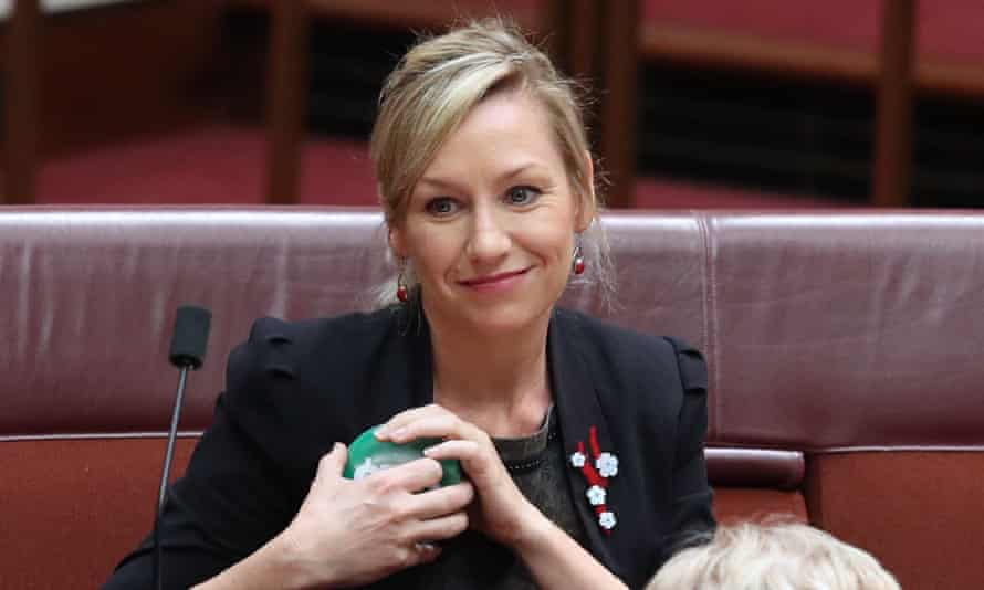 Larissa Waters says it's an insult to all workers whose wages have flatlined how much the lucrative pension scheme pays ex-pollies