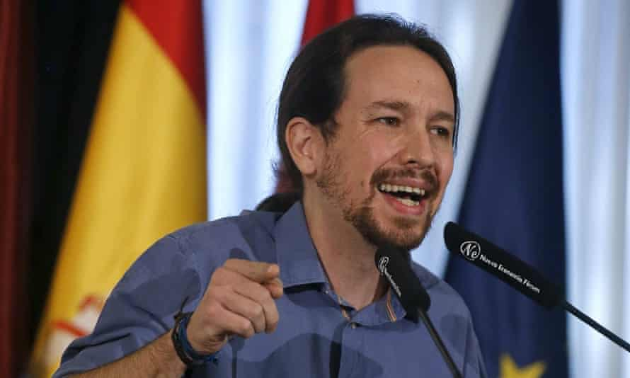 Pablo Iglesias, leader of Spain's left-wing Podemos party, at a conference in Madrid, 19 November, 2015.