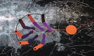 Abstract tapestry … Double Plot (2018) by Otobong Nkanga.