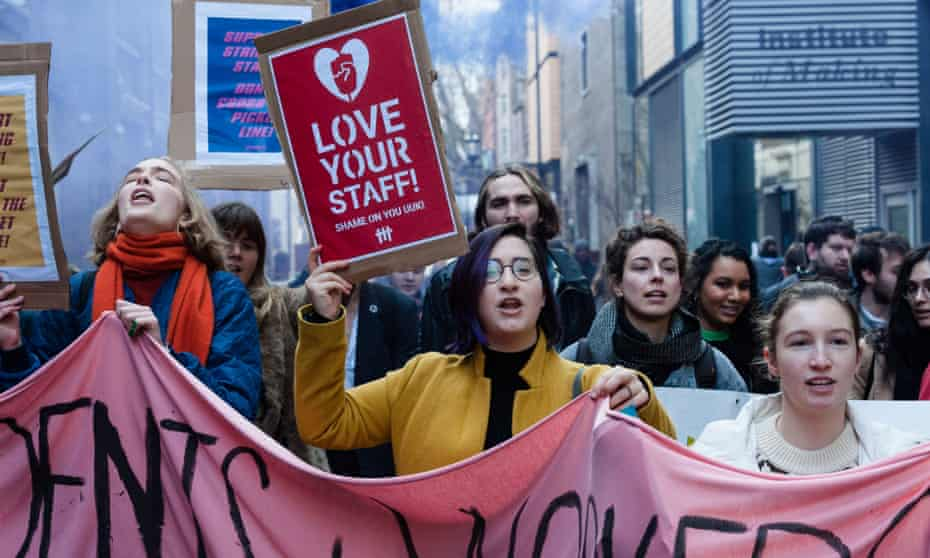 Striking staff in November at University College London
