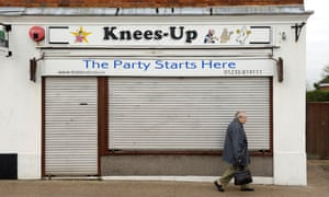 A shuttered party shop