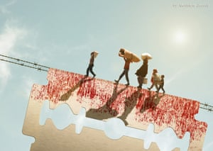 Syrian Exile Artist by Moustafa Jacoub, a Syrian artist