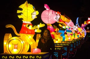 The festival, to celebrate the year of the monkey, uses more than 50 hand-sculpted lanterns