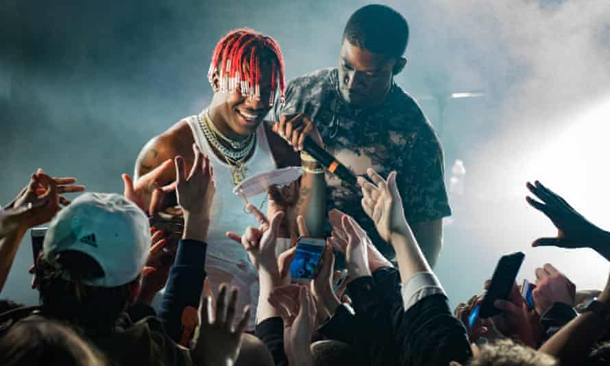 Lil Yachty onstage in Paris, February 2017.