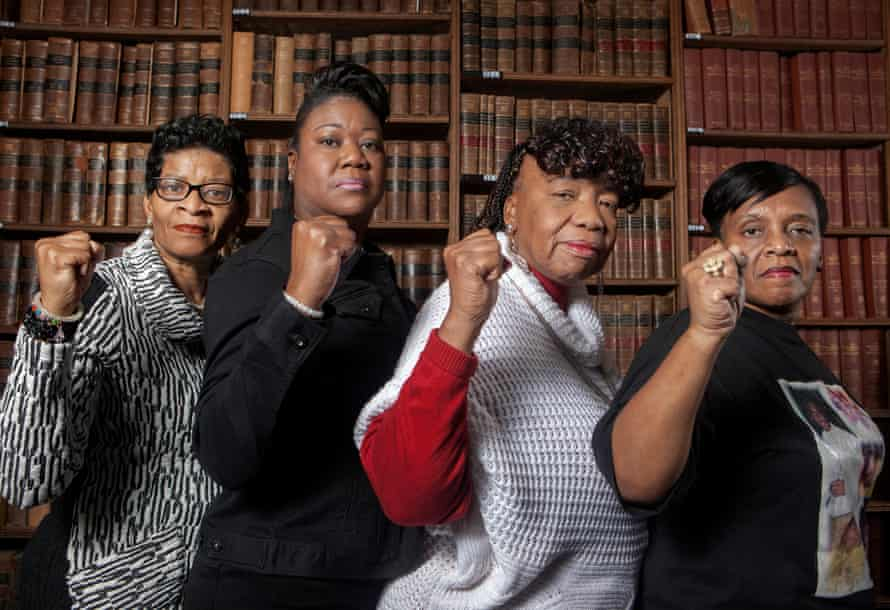 (From left) Geneva Reed-Veal (mother of Sandra Bland), Sybrina Fulton, Gwen Carr (mother of Eric Garner) and Valerie Bell (mother of Sean Bell) at the Oxford Union in 2016.