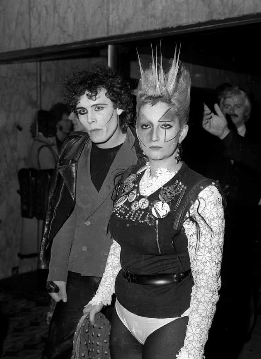 With Adam Ant at the premiere of Saturday Night Fever, in 1978.