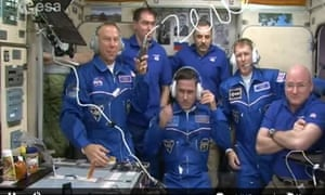 The ISS crew