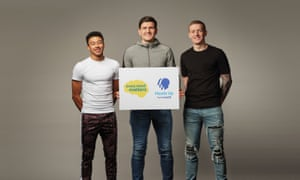 (L to R) Jesse Lingard, Harry Maguire and Jordan Pickford