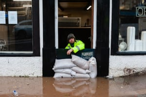 Flooding in the Cumbrian market town of Appleby