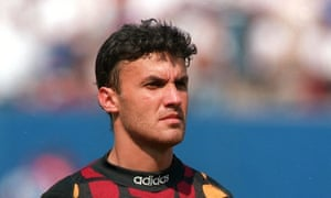 Borislav Mikhailov ahead of Bulgaria's 1994 World Cup semi-final tie against Italy. It wasn't just his saves during that tournament that caught the eye