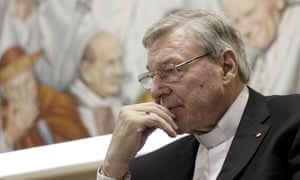Cardinal George Pell at the Vatican in Rome.