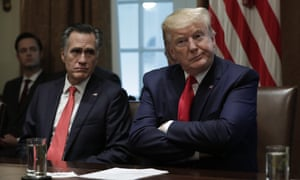 Mitt Romney and Donald Trump at a meeting in Washington in November 2019.