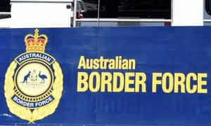 Australian border force sign