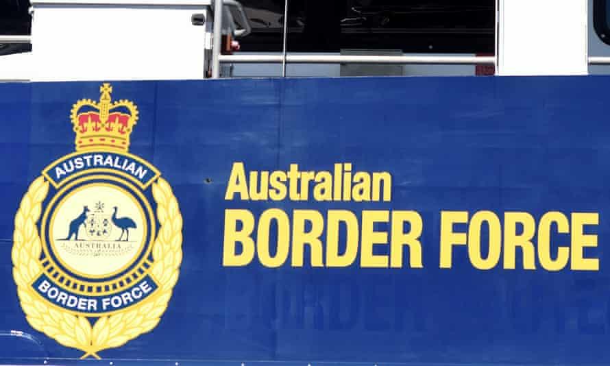 Australian border force poster on ship