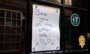 A sign in the window of a closed shop in Shambles Street in York