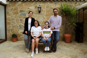 One week's worth of plastic waste, used and collected by the Compas Ponce family in Arriate, southern Spain.