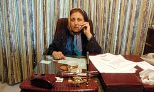 Shirin Ebadi in her office in Tehran in 2005.