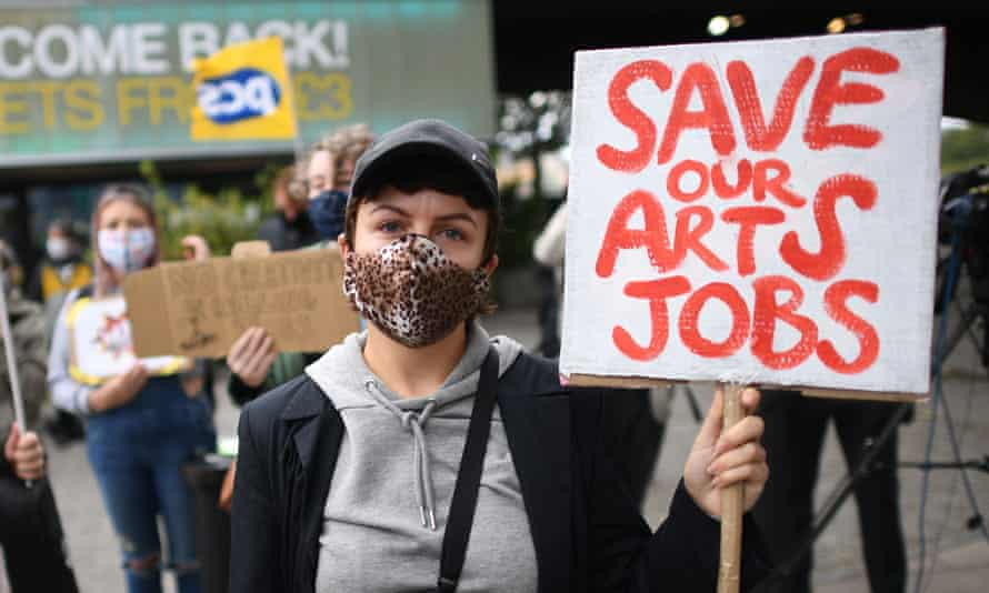 A protester on the South Bank in London