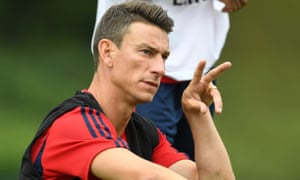 Laurent Koscielny pictured during an Arsenal training session last week.