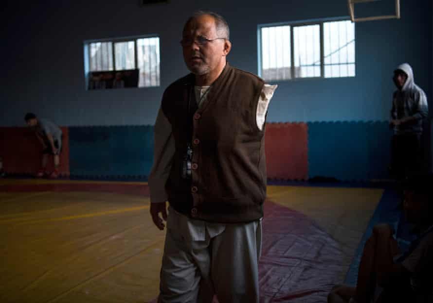 The club's coach, 52 year-old Ghulam Abbas.