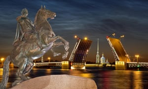 A statue of Peter the Great, founding father of St Petersburg.